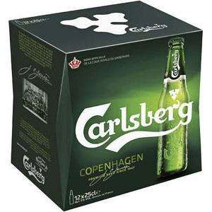 2 pack de 12 x 25 cl de Bière blonde Carlsberg