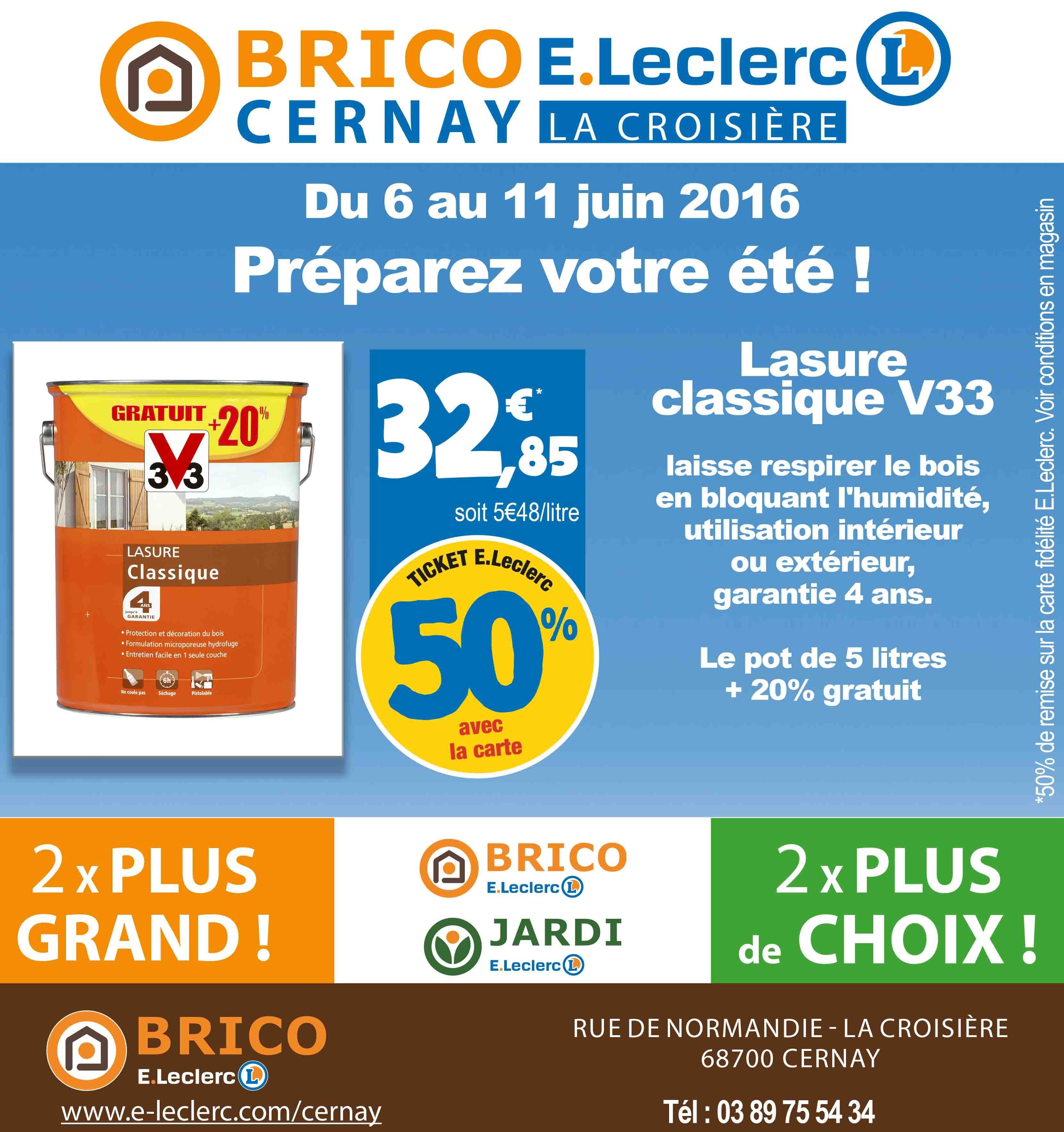 Pot de Lasure classique V33 - 6L (via 16.42€ sur la carte)