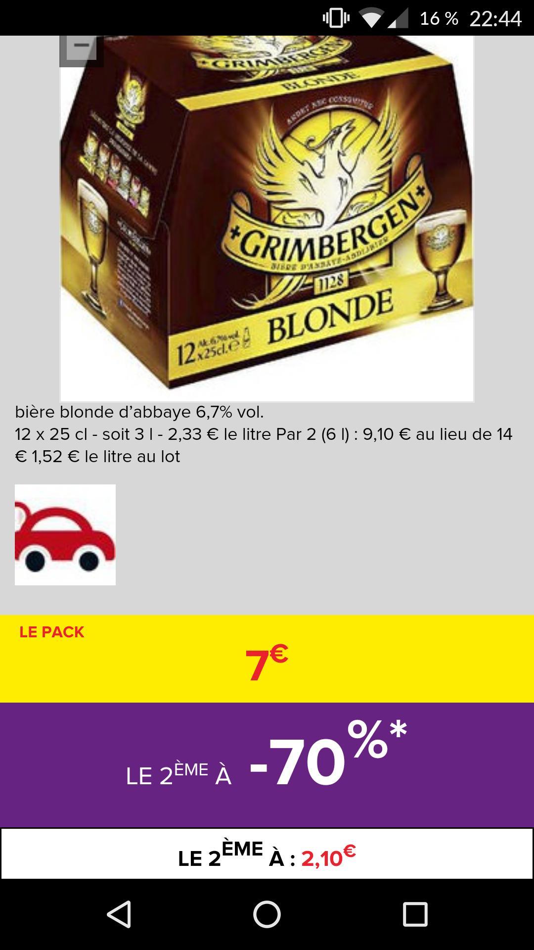 2 packs de 12 bières Grimbergen à 6,90€ (via BDR)