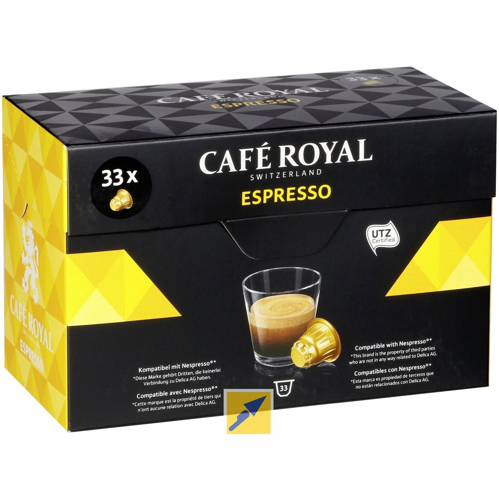 Lot de 33 capsules Café Royal (compatible Nespresso)