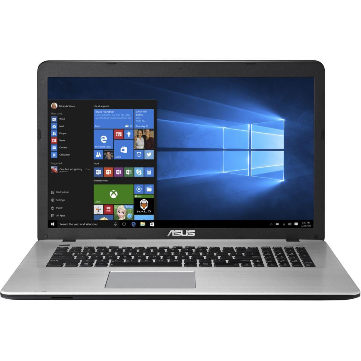 PC portable 17,3'' full HD Asus R753UX-T4042T (i7-6500U, GTX950M, 8 Go de RAM, 1 To + 128 Go en SSD)