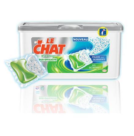 Boîte de Lessive Le Chat l'expert duo efficacité - 19 capsules gratuite (via Prixing + Quoty + BDR)