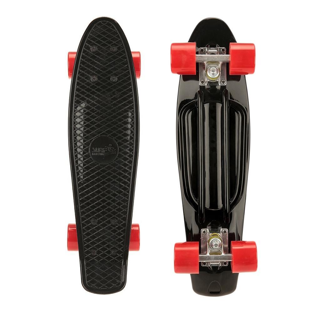 "Sélection de longboards, skateboards et trottinettes Osprey en promotion - Ex : mini cruiser 22"" Old School (noir)"