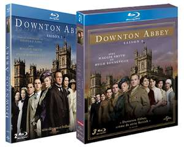 Downton Abbey : Saison 1 et 2 en DVD à 36.58€ et en Blu-ray