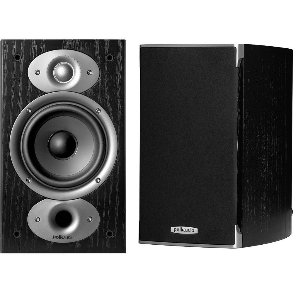 Paire d'Enceintes Bibliothèque à 2 voies Polk Audio RTiA1 Noir - PowerPort Plus bass, Acoustic Resonance Control, Bi-câblage, 2x125W, 8 Ohm, 50Hz à 27kHz, 89db, HP 13 cm (5.5Kg chacune)