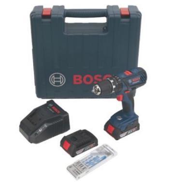 Perceuse à percussion Bosch pro Gsb 18 2 li (2×2Ah) + forêts