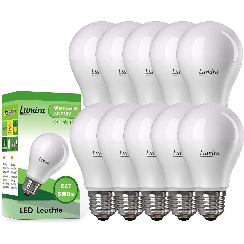 Lot de 10 ampoules LED e27 900lm 2900 °K Lumira