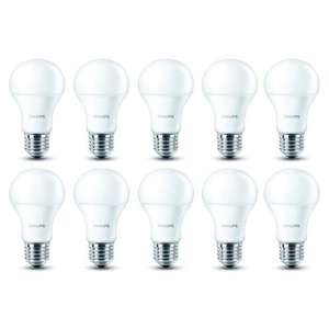 Lot de 10 ampoules Philips Led E27 9W (-5% minimum et jusqu'à -50%)