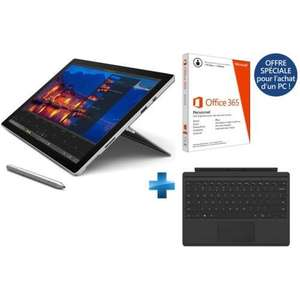 "Tablette 12.3"" Microsoft Surface Pro 4 - (i5, 4 Go Ram , 128 Go SSD)  + Clavier Type Cover + Office 365"