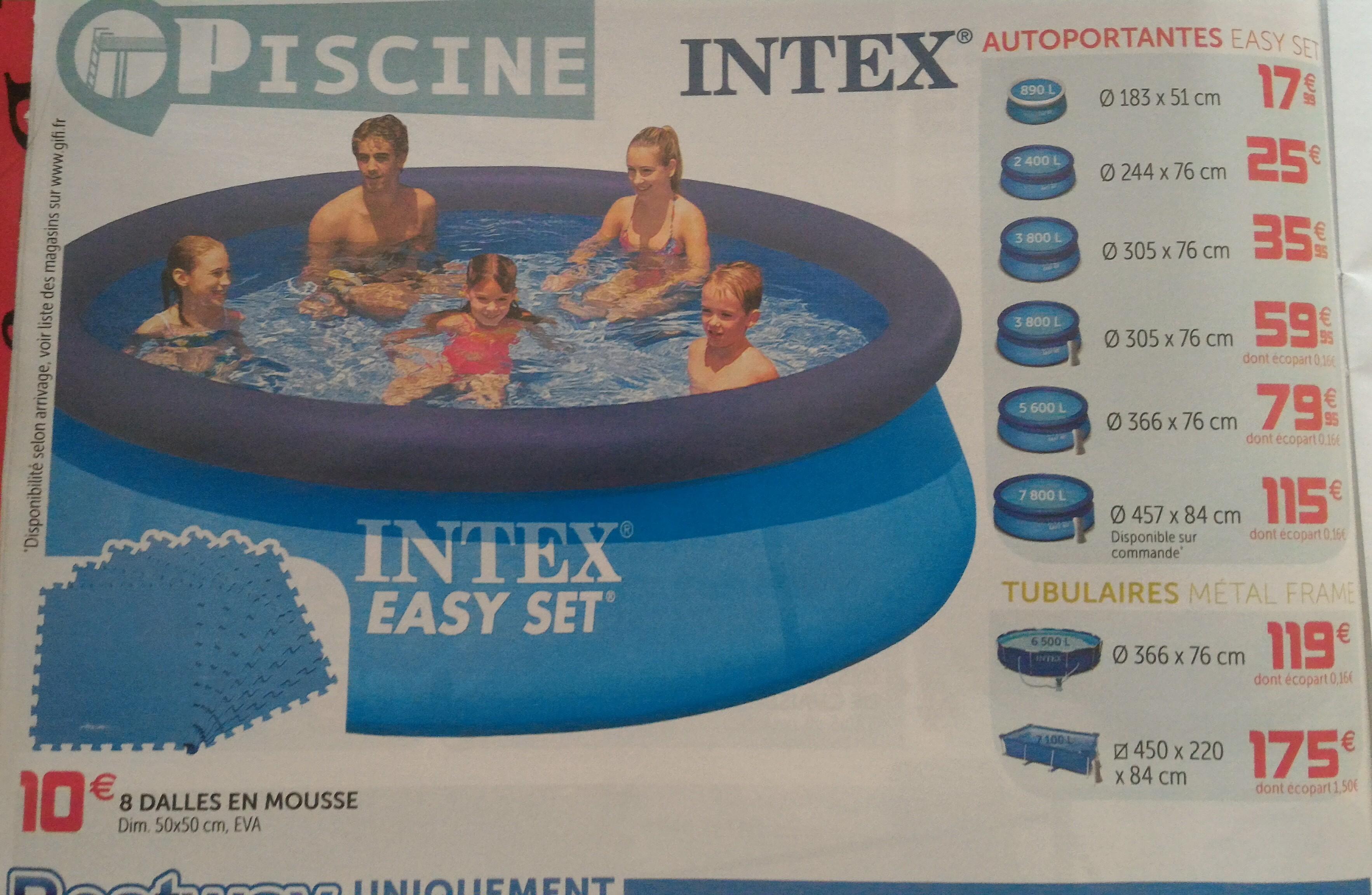 Piscine Intex autoportante Easy Set - 244 x 76 cm
