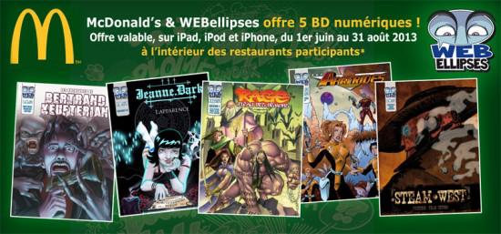 5 BD Numériques (French Comics) et un Sundae offert