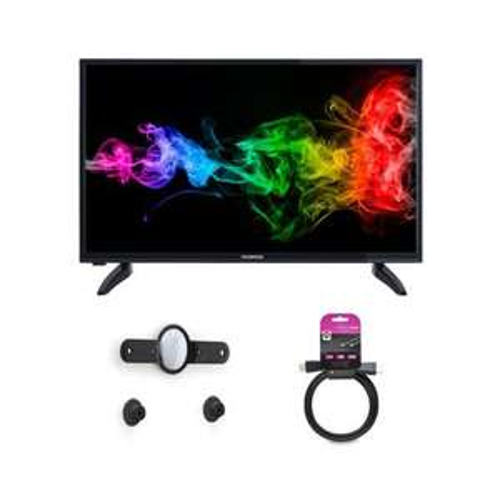 "TV 32"" Techwood TK32DHD30016 - 1366x768, TNT HD + Support mural fixe TV LED 14''-40'' + Câble HDMI mâle/mâle 1,5m BUN44889"