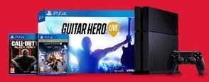 Pack Console PS4 500Go Noire + Call of Duty Black Ops 3 + Destiny Edition Légendaire + Guitar Hero Live