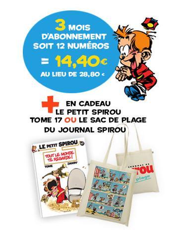 12 numéros du journal de Spirou à moitié prix & le tome 17 du petit Spirou offert