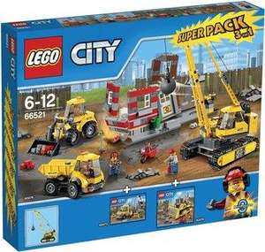Pack Lego City 3 en 1 Démolition