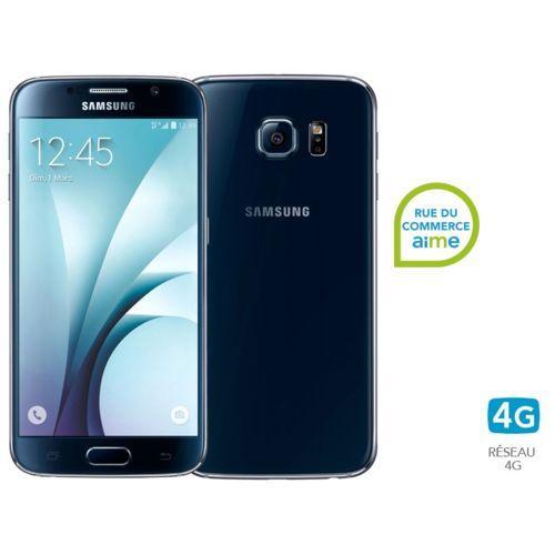 Smartphone Samsung Galaxy S6 128 Go Noir + coque rigide Samsung (via ODR de 100€)