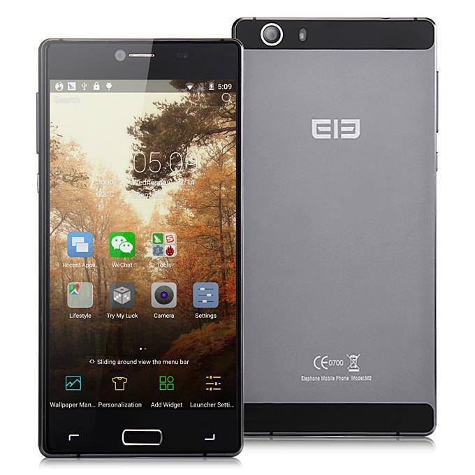 """Smartphone 5.5"""" Elephone M2 (3 Go de RAM, 32 Go) - gris"""