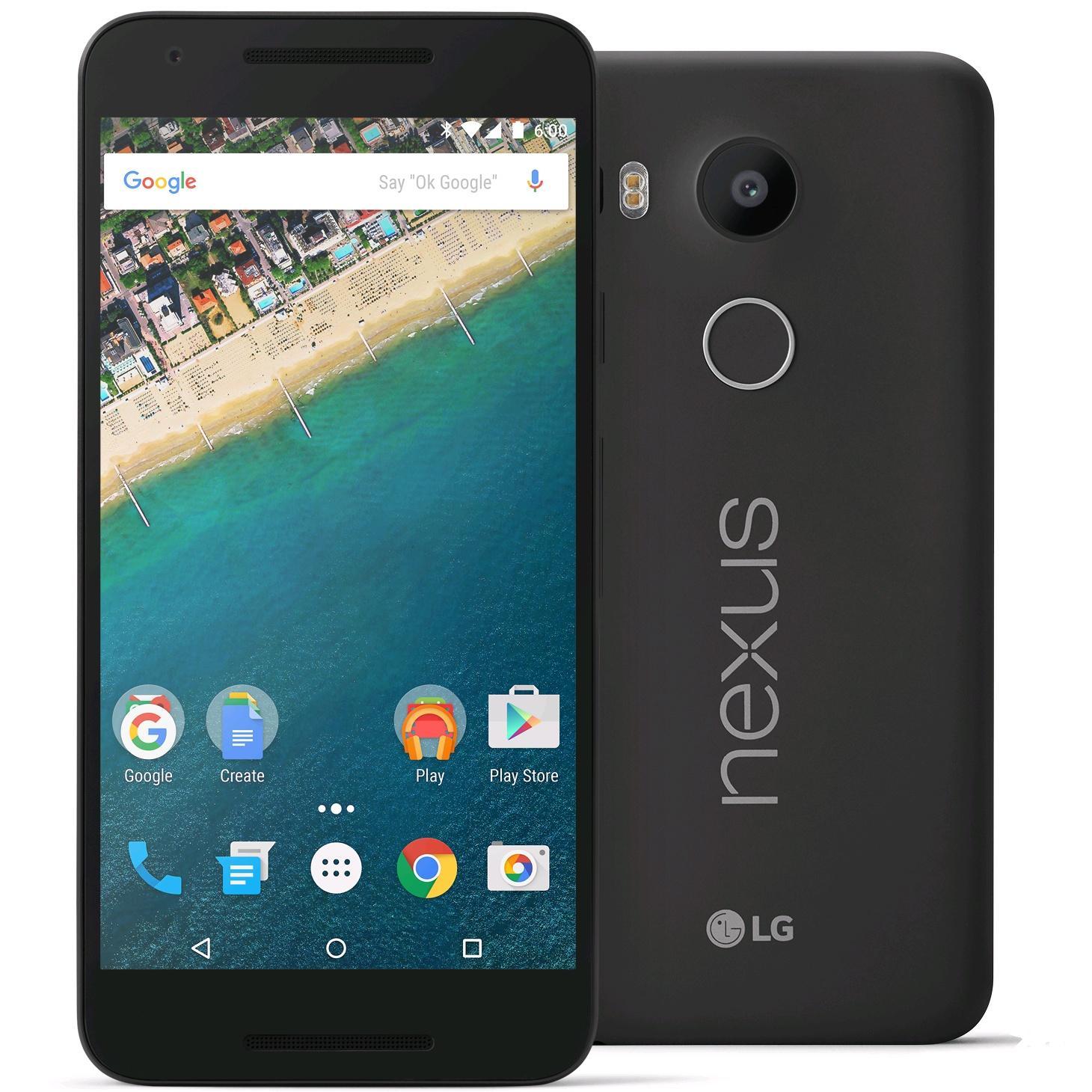 "Smartphone 5.2"" Google Nexus 5X - 32 Go, noir (+ bon d'achat PriceClub de 46€)"