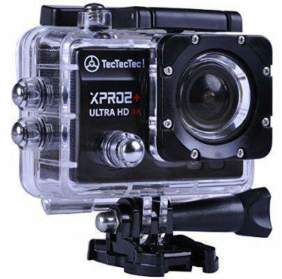 Caméra sportive TecTecTec XPRO2 - 4K Ultra HD, Wi-Fi, 16 Mpx (argent ou noir)