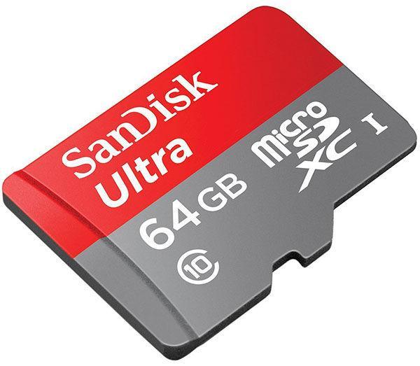 Micro SDXC Sandisk  Ultra UHS-1 -  64 Go