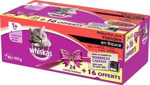 Lot de 40 sachets pour chat Whiskas Envies Gourmandes