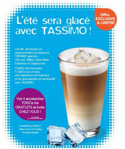 4 échantillons Tassimo Ice T-Discs gratuits