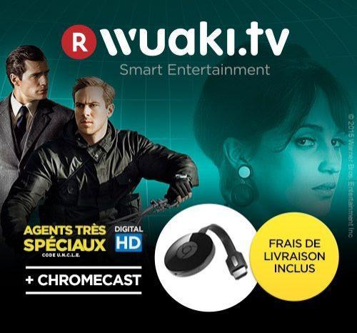 Chromecast 2 + Film Agents très spéciaux - Code U.N.C.L.E ou Man Of Steel en VOD HD sur Wuaki