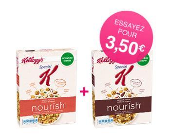 2 paquets de céréales Kellogg's Special K Nourish 330g (via 3.50€ fidélité + Shopmium) gratuits