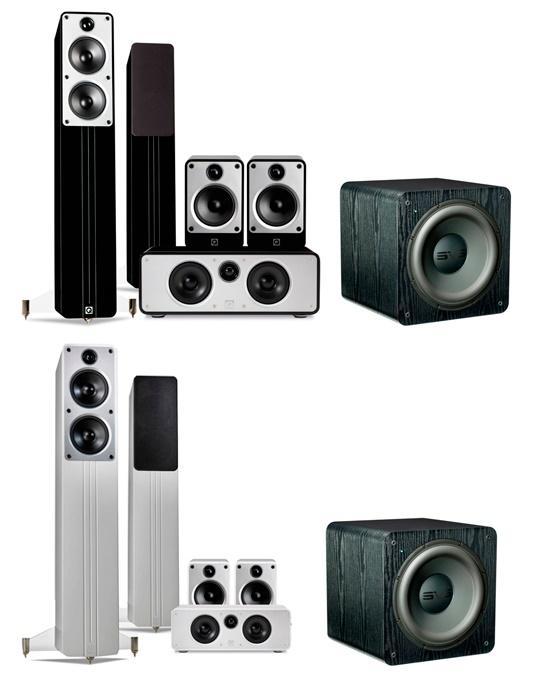 Kit HC 5.0 Q-Acoustics Concept Cinema -  2 Paires d'Enceintes Bass-reflex à 2 voies (Concept 40 + Concept 20) + Centrale Concept Centre + Caisson de Basses SVS SB-2000 (500/1000W, 19-220Hz à ± 3 dB) - 84Kg