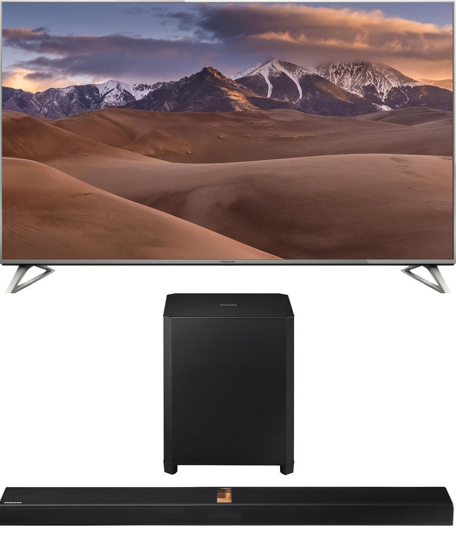 """TV 58"""" Panasonic TX-58DX730E à commandes vocales  - UHD 4K, HDR, Smart TV (HS 2.0) + Barre de Son 4.1 à Lampes Samsung HW-H750 (320W, HDMI / Wi-Fi / Bluetooth) avec Caisson de Basses Sans-fil (Via ODR 150€ + 70€)"""