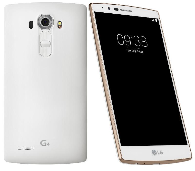 """Smartphone 5.5"""" LG G4 (3 Go de RAM, 32 Go, 4G) - blanc / or (+ 30€ en carte cadeau)"""