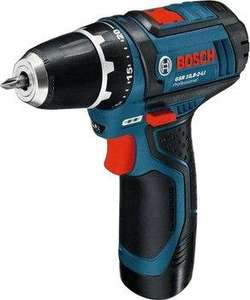 Set perceuse-visseuse Bosch GSR Professional (10,8 V) + 1 batterie (2 Ah) + 32 embouts de vissage