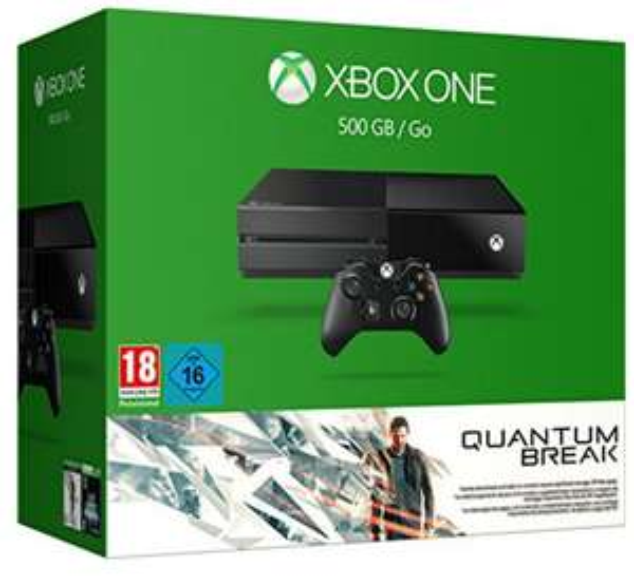 Pack Console Microsoft Xbox One 500 Go + Quantum Break + Alan Wake (Dématérialisé)