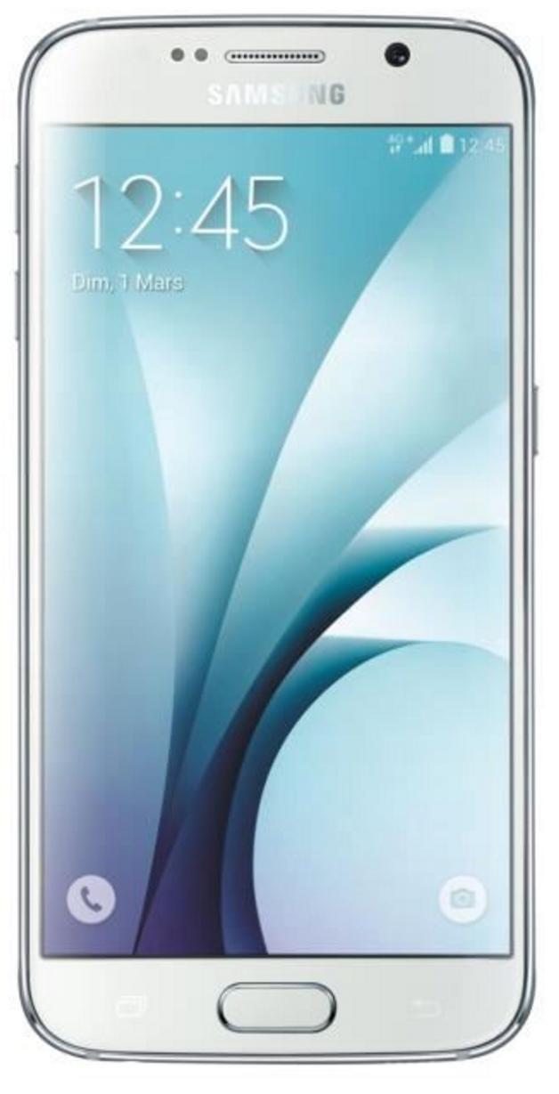 """Smartphone 5.1"""" Samsung Galaxy S6 32 Go Blanc + Coque transparente (via ODR)"""
