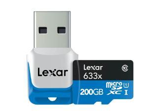 Carte mémoire SDXC Lexar High-Performance 200 Go (Classe 10, 95 Mo/s) avec adaptateur USB