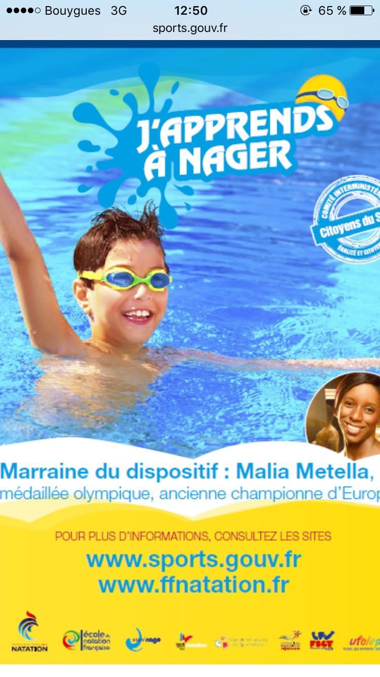 Opération J'apprends à Nager - 10 Cours de natation pour les enfants de 6 à 12 ans gratuit
