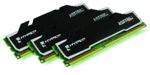 Barrette de ram Kingston 6Go (3x2Go) 1600MHz KVR CL9 HyperX Kit3 T1 Series XMP