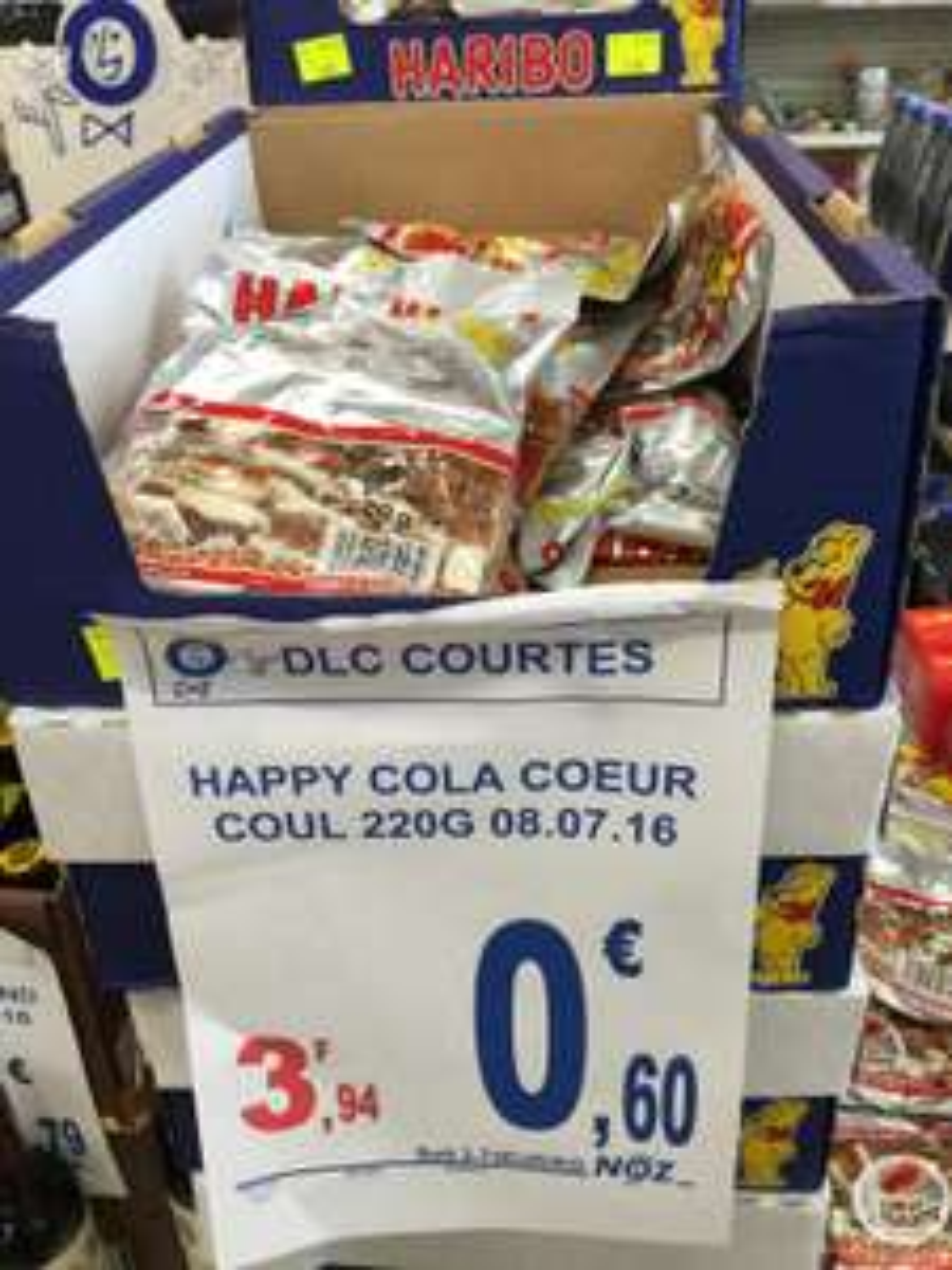 Sachet de Bonbons Haribo Happy Cola Coeur coulant (DLC courte)