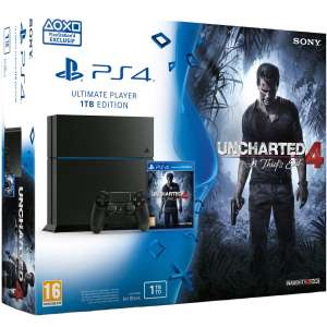 Pack console Sony PS4 (1 To) + 2ème manette + Uncharted 4: A Thief's End