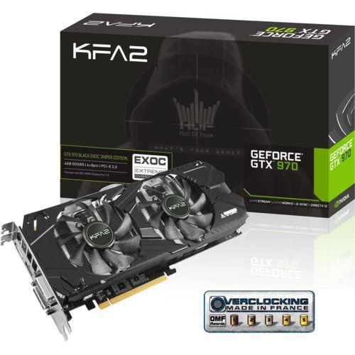Carte graphique KFA2 GeForce GTX 970 EXOC Black Edition sniper  - 4 Go