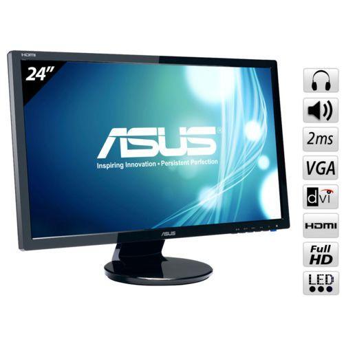 Ecran 24 pouces ASUS 24 VE247H  LED - 1920 x 1080- VGA / DVI / HDMI 2 ms