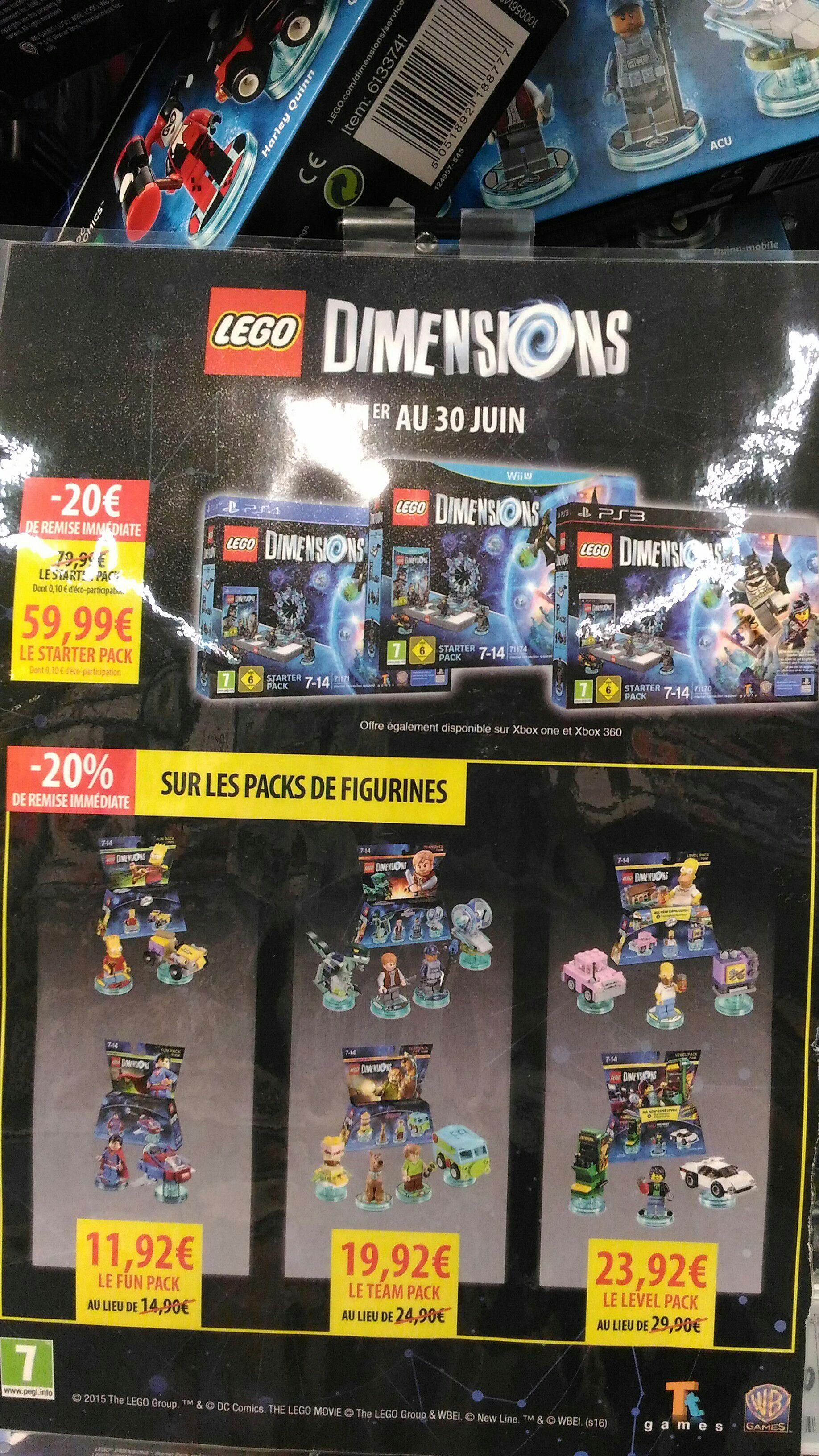 Starter Pack Lego Dimensions sur PS4, PS3 ou Wii U