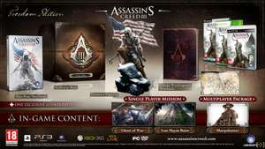 Assassin's Creed 3 Edition Freedom + Chevalière exclusive offerte (XBOX 360)