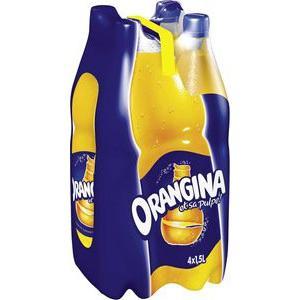 Lot de 4 bouteilles d'Orangina de 1.5L (via 50% sur la carte)