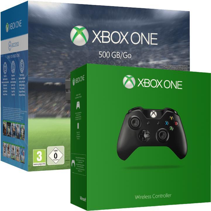 Pack Console Xbox One 500 Go - 2 Manettes + Fifa 16 (Dématérialisé)