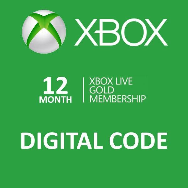 12 mois d'abonnement au Xbox Live Gold
