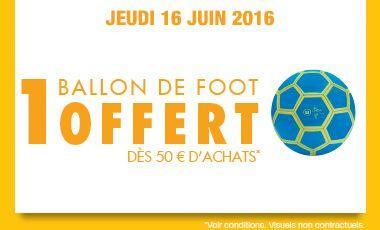 [Carte fidélité] Ballon de foot offert dès 50€ d'achat