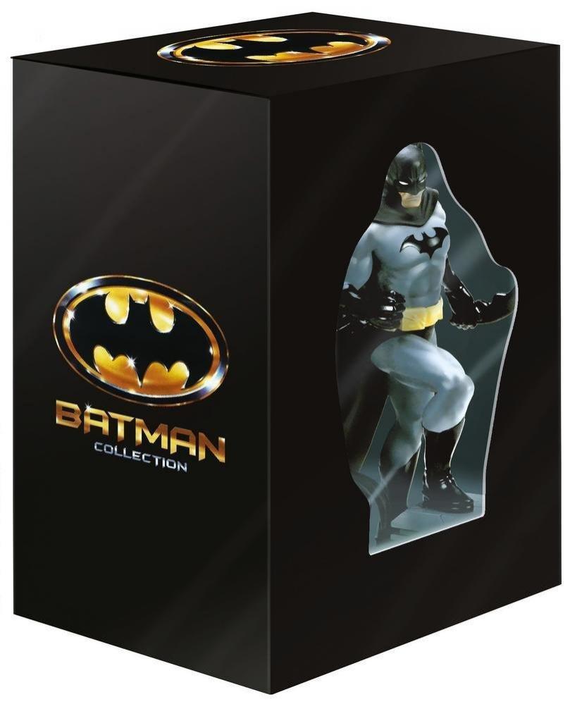 Sélection de coffrets en promotion - Ex : Coffret Collector Batman - Intégrale des 4 Films (DVD + Blu-Ray + Statue Batman)