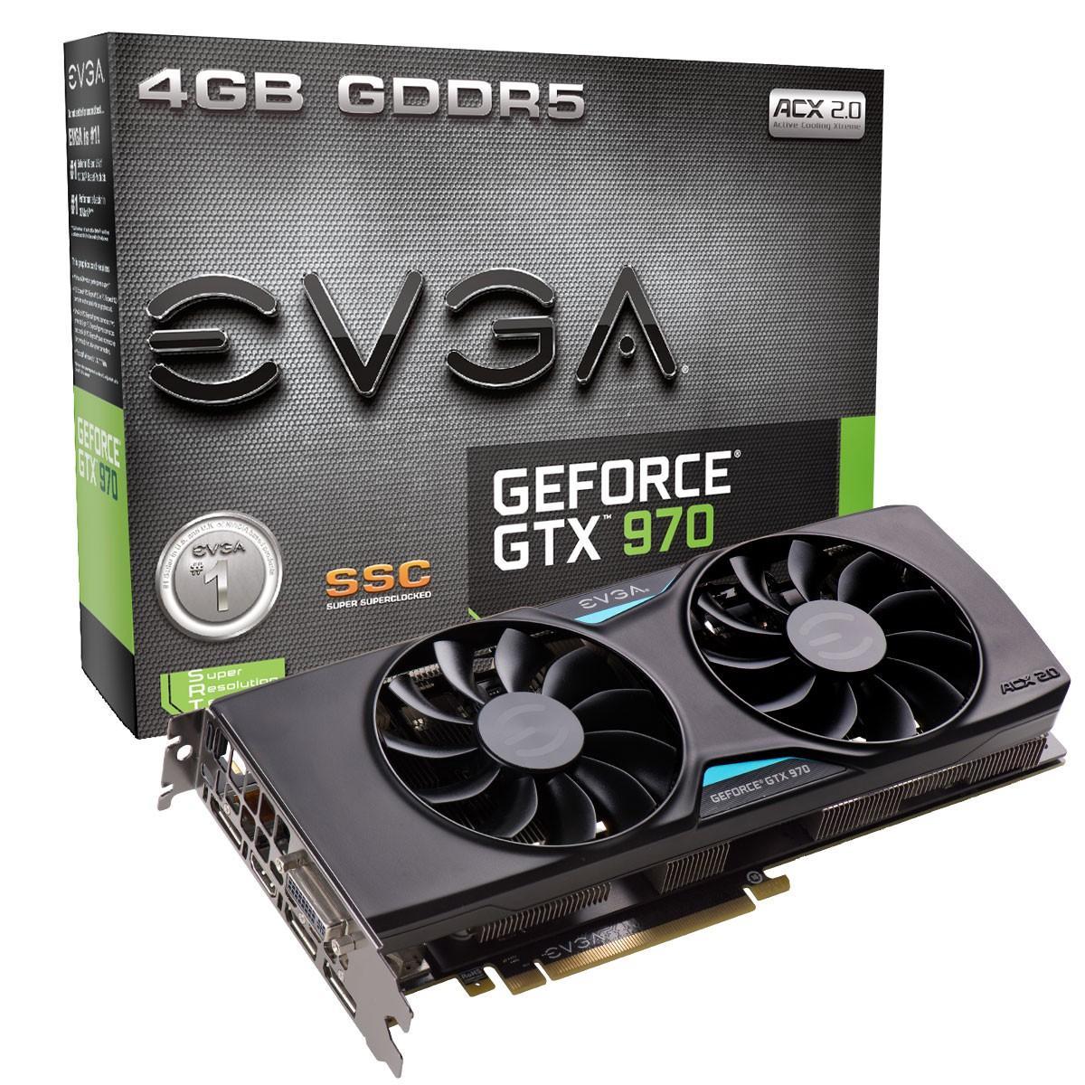 Carte graphique EVGA GTX 970 SSC ACX 2.0+ 4 Go