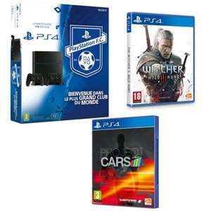 Pack Console Sony Playstation 4 1 To châssis C + 2eme manette + The Witcher + Project Cars
